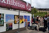 Art exhibition at Stockholm Street Festival 2012 with Tiee Granholm